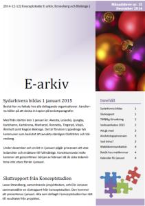 Månadsbrev från konceptstudie e-arkiv december 2014